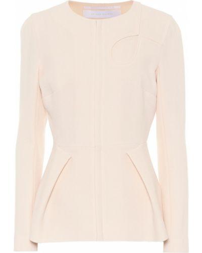 Шерстяная розовая куртка Roland Mouret