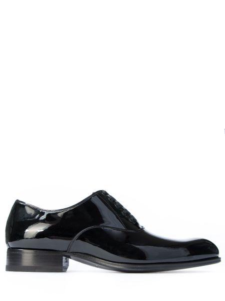 Лаковые оксфорды - черные Tom Ford