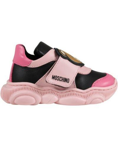 Sneakersy - różowe Moschino
