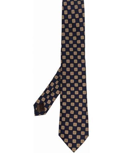 Złoty krawat - niebieski Churchs