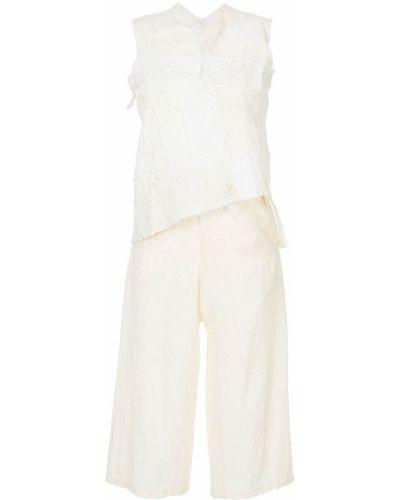 Белый костюмный костюм без рукавов с карманами Junya Watanabe Comme Des Garçons Pre-owned