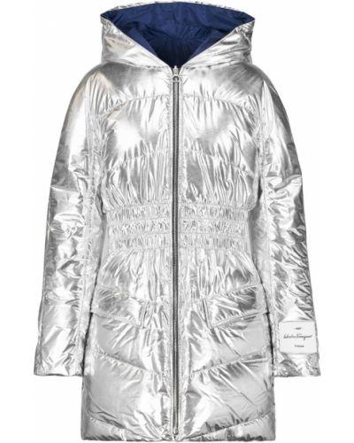 Куртка двусторонняя - серебряная Salvatore Ferragamo