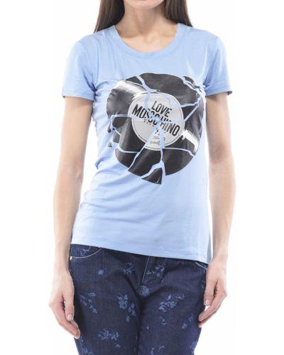 Голубая футболка Love Moschino