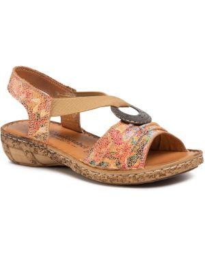 Brązowe sandały zamszowe Comfortabel