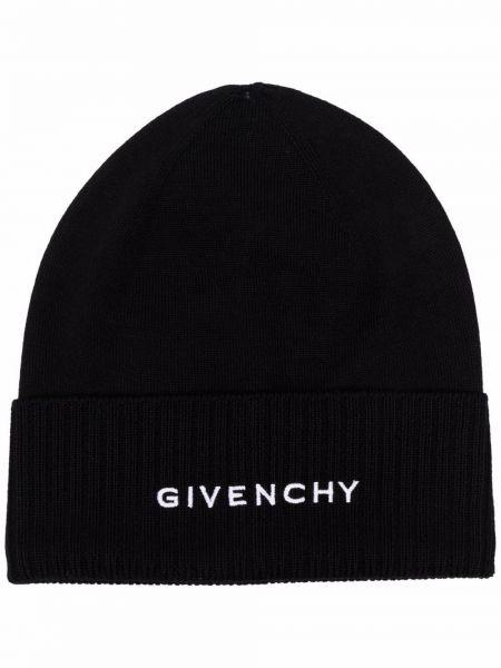 Черная тонкая шапка Givenchy