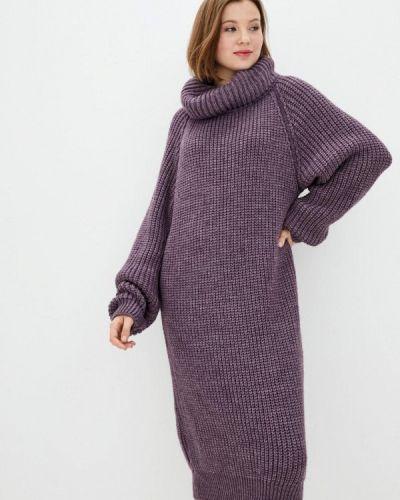 Фиолетовое вязаное платье Прованс
