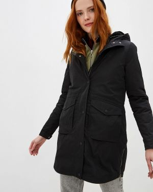 Утепленная куртка демисезонная черная Lacoste