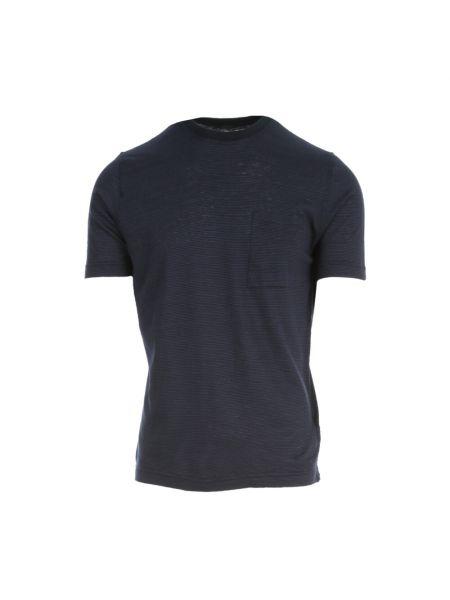 Niebieska koszulka w paski Zanone