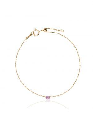 Ażurowa różowa złota bransoletka ze złota Persée