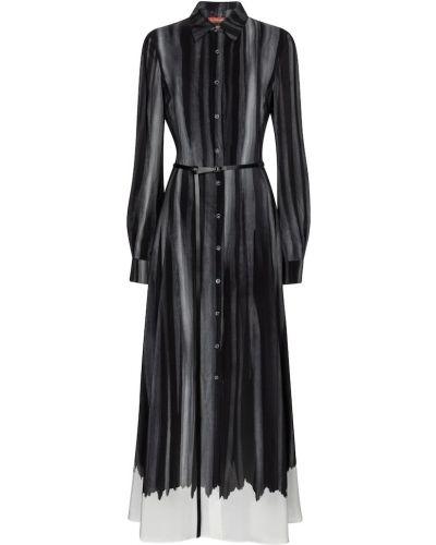 Шелковое серое платье макси Altuzarra