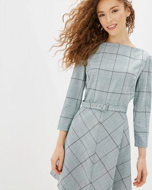 Платье бирюзовый прямое Befree