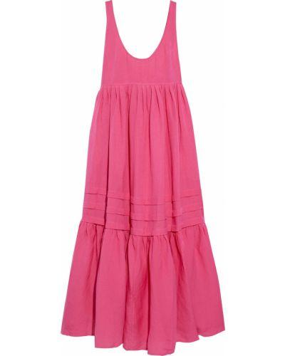 Льняное платье макси - розовое Solid & Striped