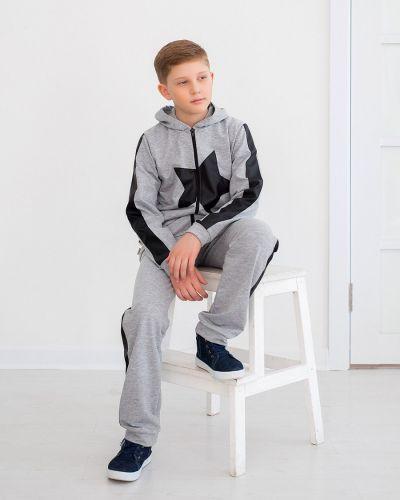 Костюмный хлопковый костюм с карманами с манжетами Looklie