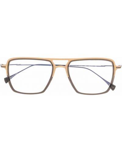 Złote okulary Yohji Yamamoto