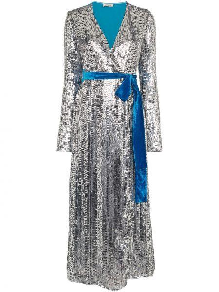 Платье с поясом с пайетками с запахом Attico