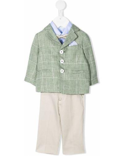 Klasyczny niebieski garnitur bawełniany Marcelo Burlon County Of Milan Kids