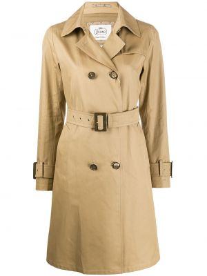 С рукавами пальто с воротником с поясом двубортное Herno