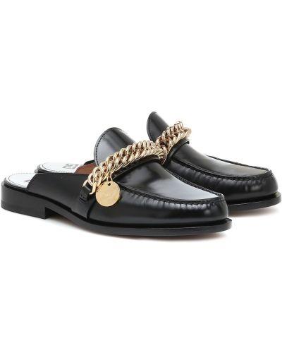 Klasyczny skórzany czarny kapcie przycięte Givenchy