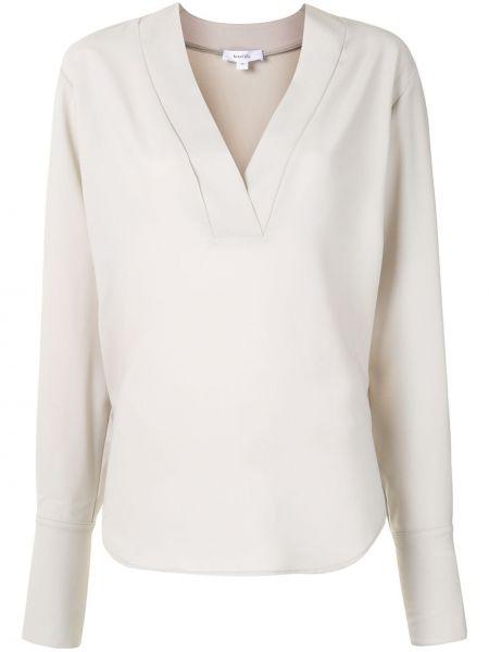 Серая с рукавами блузка с вырезом Beaufille