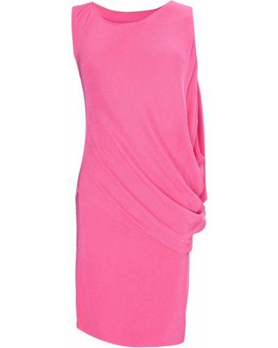 Розовое коктейльное платье с драпировкой из вискозы Jay Ahr