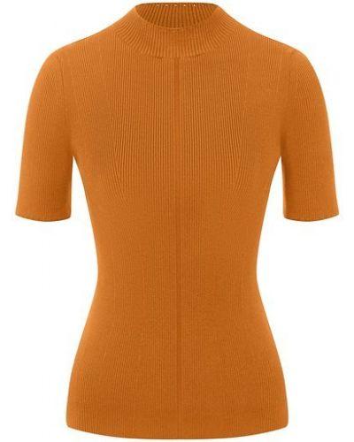 Оранжевый шелковый пуловер Oscar De La Renta