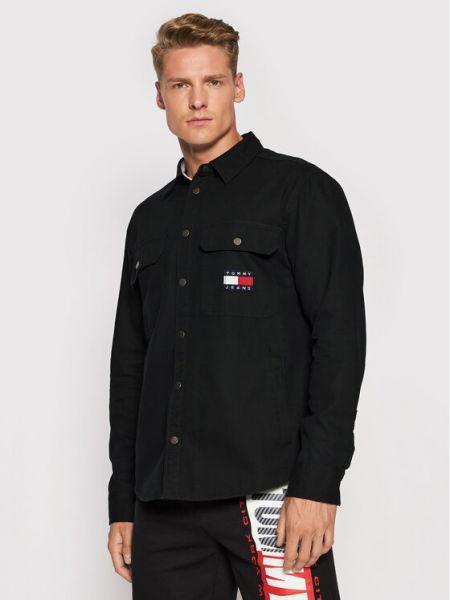 Koszula jeansowa - czarna Tommy Jeans