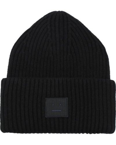 Черная вязаная шапка Acne Studios