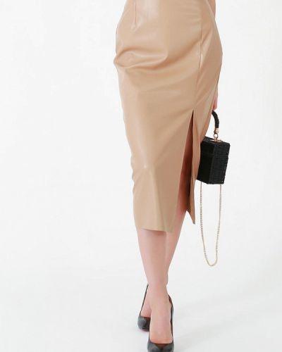 Бежевая юбка осенняя Lussotico