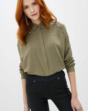 Блузка с длинным рукавом зеленый хаки Sweewe