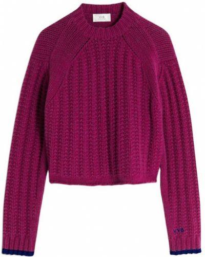Sweter - fioletowy Victoria Beckham