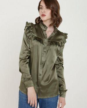 Блузка с длинным рукавом зеленый весенний ли-лу
