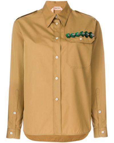 Классическая рубашка с длинным рукавом хлопковая N21