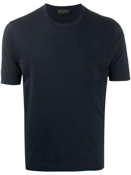 Koszula krótkie z krótkim rękawem prosto ciemnoniebieski Dell'oglio