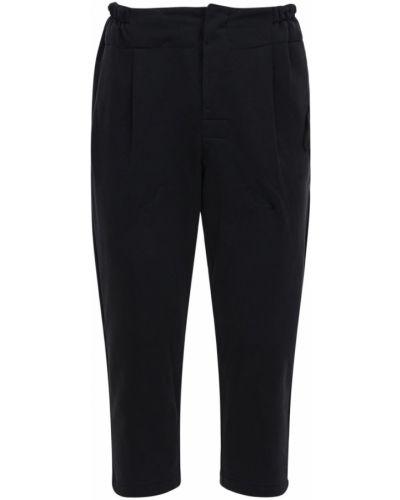 Bawełna bawełna czarny przycięte spodnie z kieszeniami Riot Facetasm