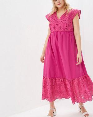 Повседневное платье розовое польское Persona By Marina Rinaldi