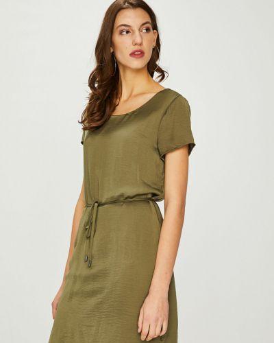 Платье мини прямое с вырезом Vila