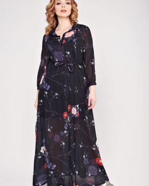 Платье макси на пуговицах с поясом Mari-line