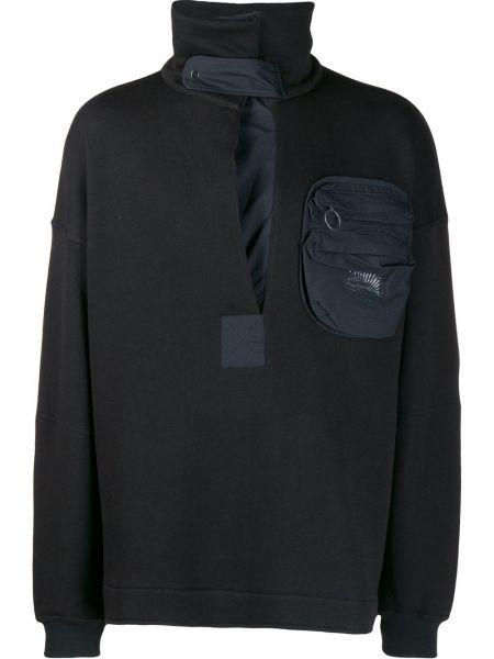 Czarny sweter bawełniany z długimi rękawami Damir Doma