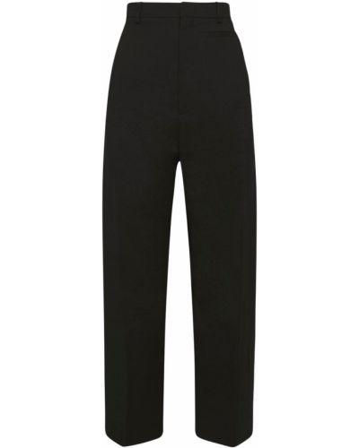Czarne spodnie z wysokim stanem wełniane Jacquemus
