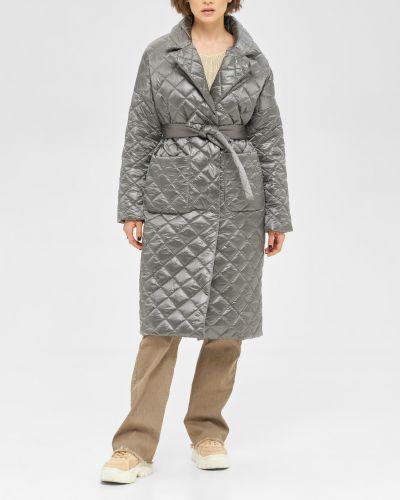 Стеганое пальто - серое Mila Nova