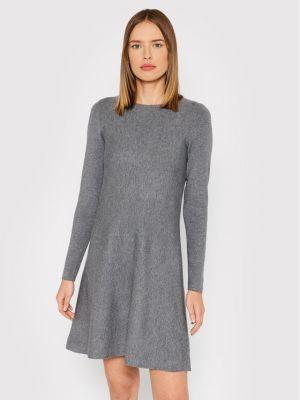 Sukienka dzianinowa - szara Vero Moda