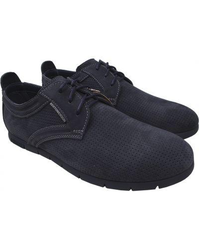 Туфли из нубука - синие Bertoni