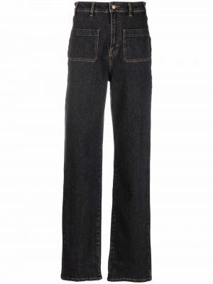Черные джинсовые прямые джинсы Ba&sh