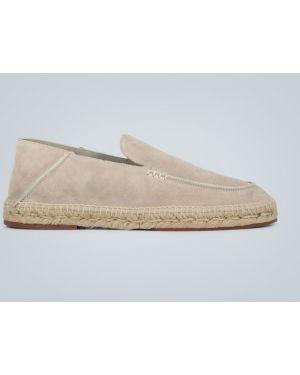 Кожаные кожаные туфли на каблуке со складками Loro Piana