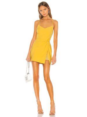 Żółta sukienka na imprezę Nbd