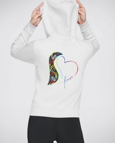 Белый свитер с капюшоном на молнии Skechers