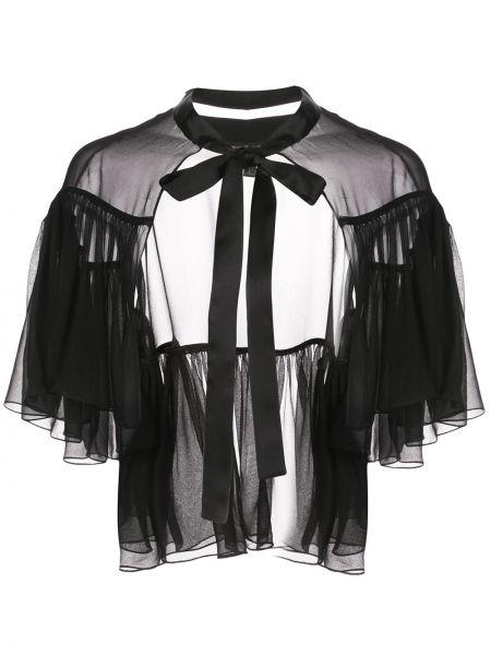 Шелковое платье миди прозрачное с разрезами по бокам свободного кроя Kiki De Montparnasse
