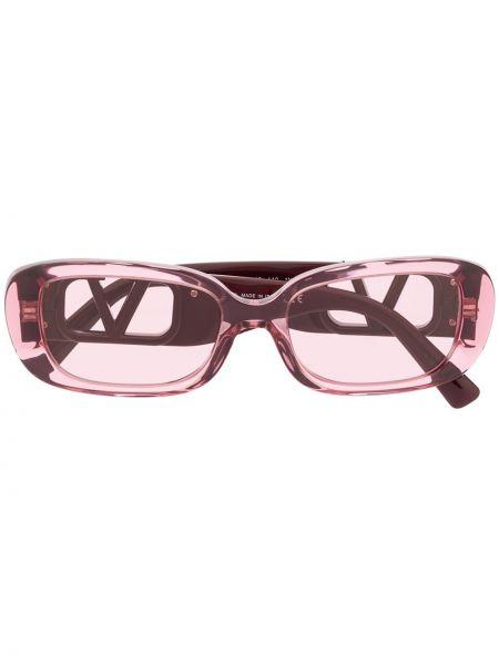 Розовые солнцезащитные очки Valentino Eyewear