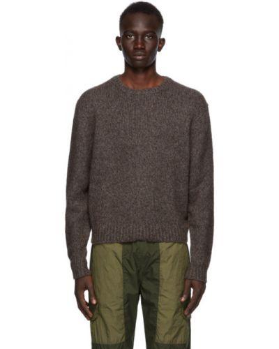 Сиреневый шерстяной длинный свитер с воротником John Elliott