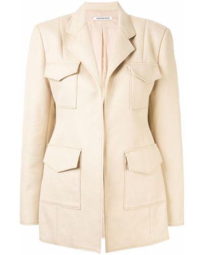 Классический пиджак коричневый с накладными карманами Georgia Alice